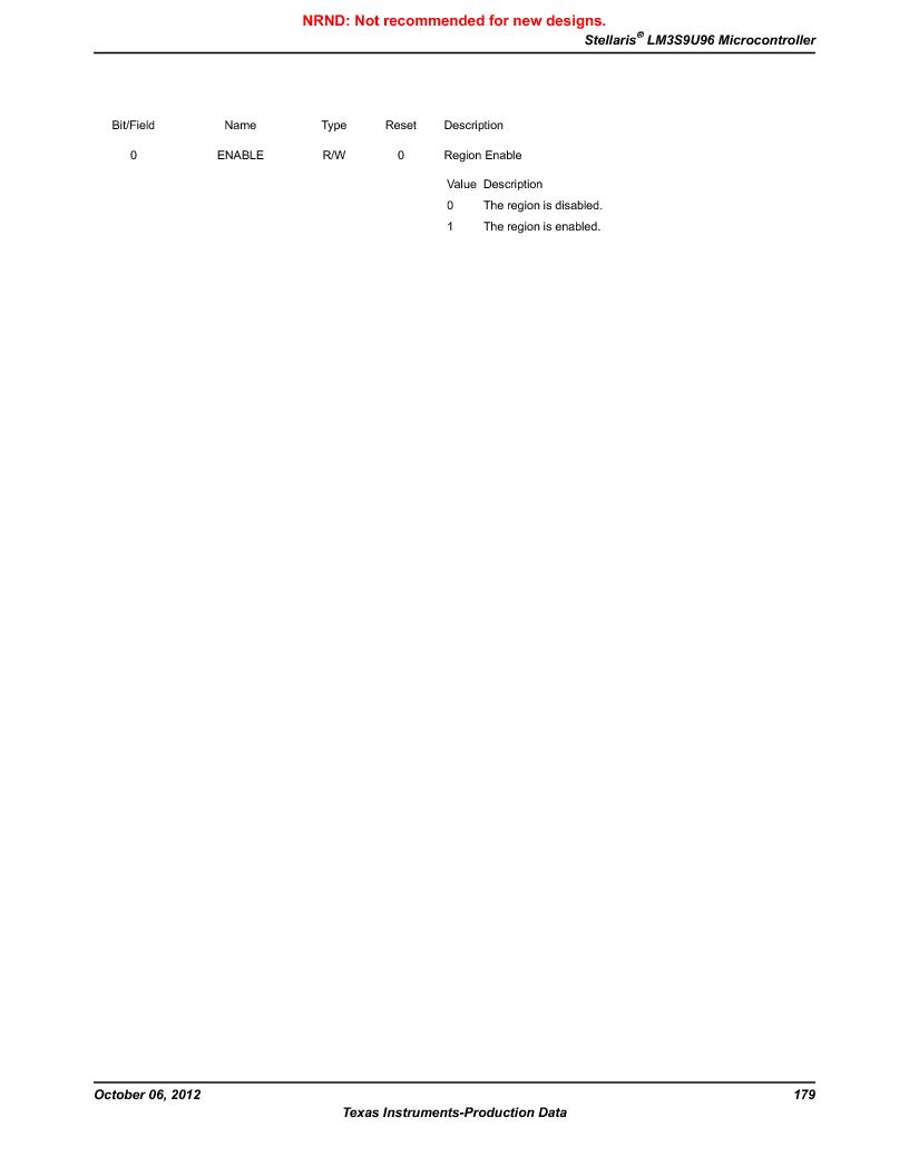 LM3S9U96-IBZ80-A1T ,Texas Instruments厂商,IC ARM CORTEX MCU 384KB 108NFBGA, LM3S9U96-IBZ80-A1T datasheet预览  第179页