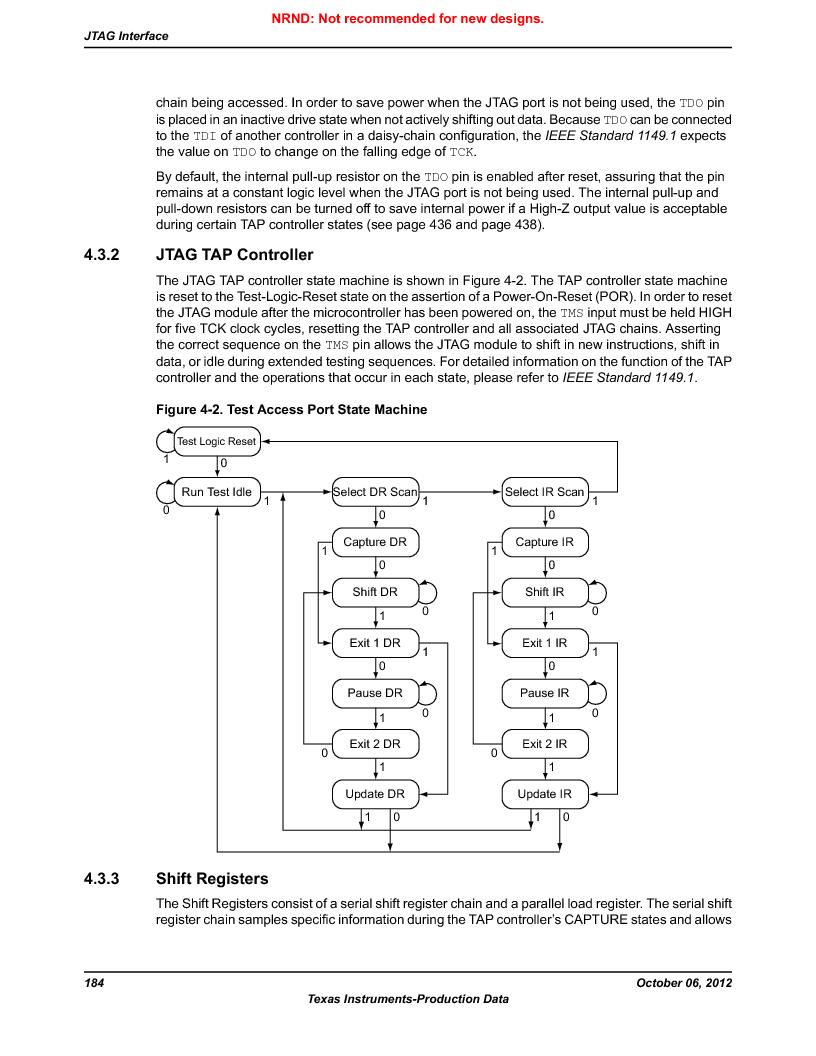 LM3S9U96-IBZ80-A1T ,Texas Instruments厂商,IC ARM CORTEX MCU 384KB 108NFBGA, LM3S9U96-IBZ80-A1T datasheet预览  第184页