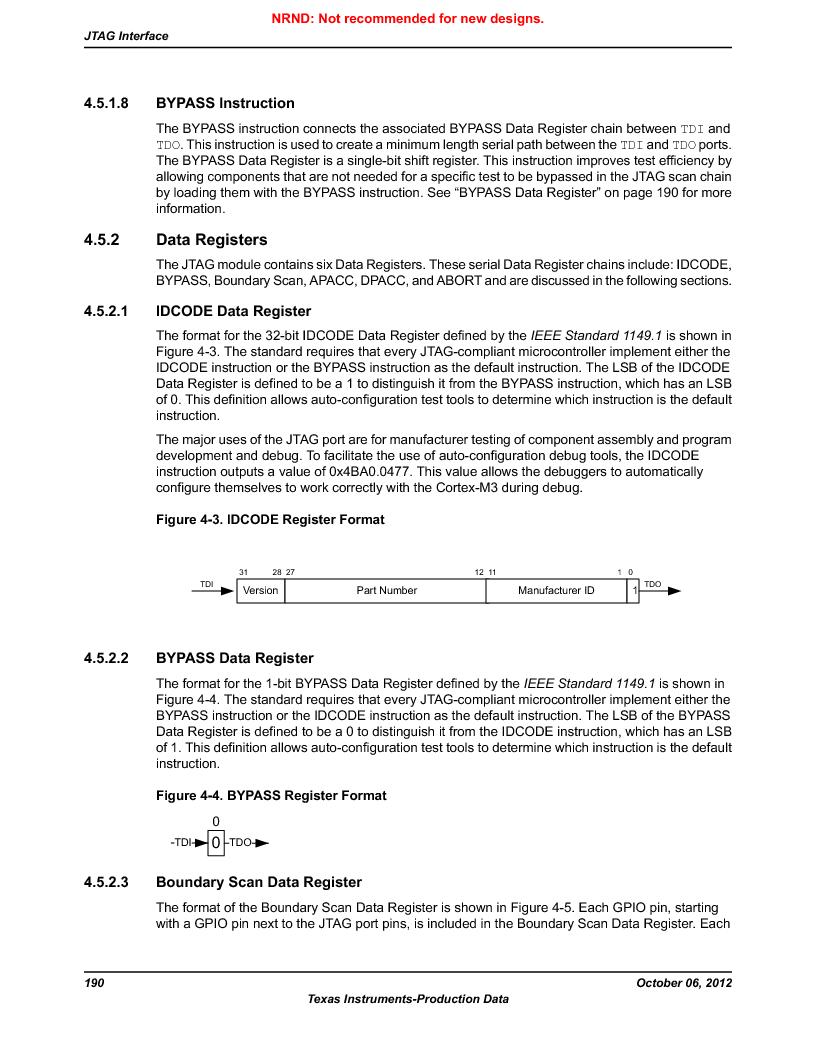 LM3S9U96-IBZ80-A1T ,Texas Instruments厂商,IC ARM CORTEX MCU 384KB 108NFBGA, LM3S9U96-IBZ80-A1T datasheet预览  第190页