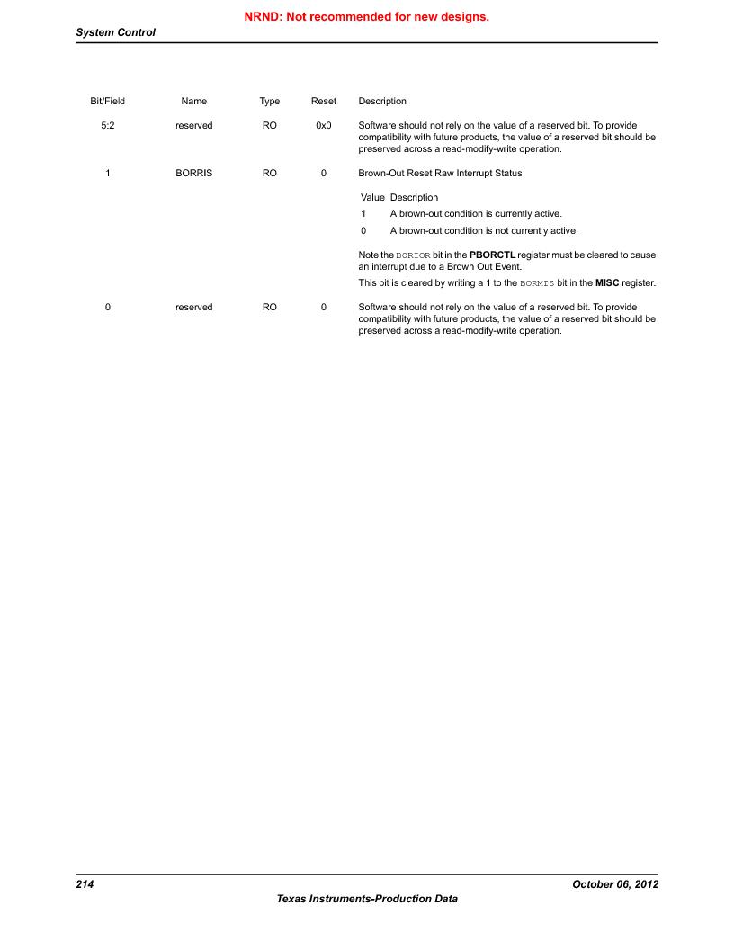 LM3S9U96-IBZ80-A1T ,Texas Instruments厂商,IC ARM CORTEX MCU 384KB 108NFBGA, LM3S9U96-IBZ80-A1T datasheet预览  第214页