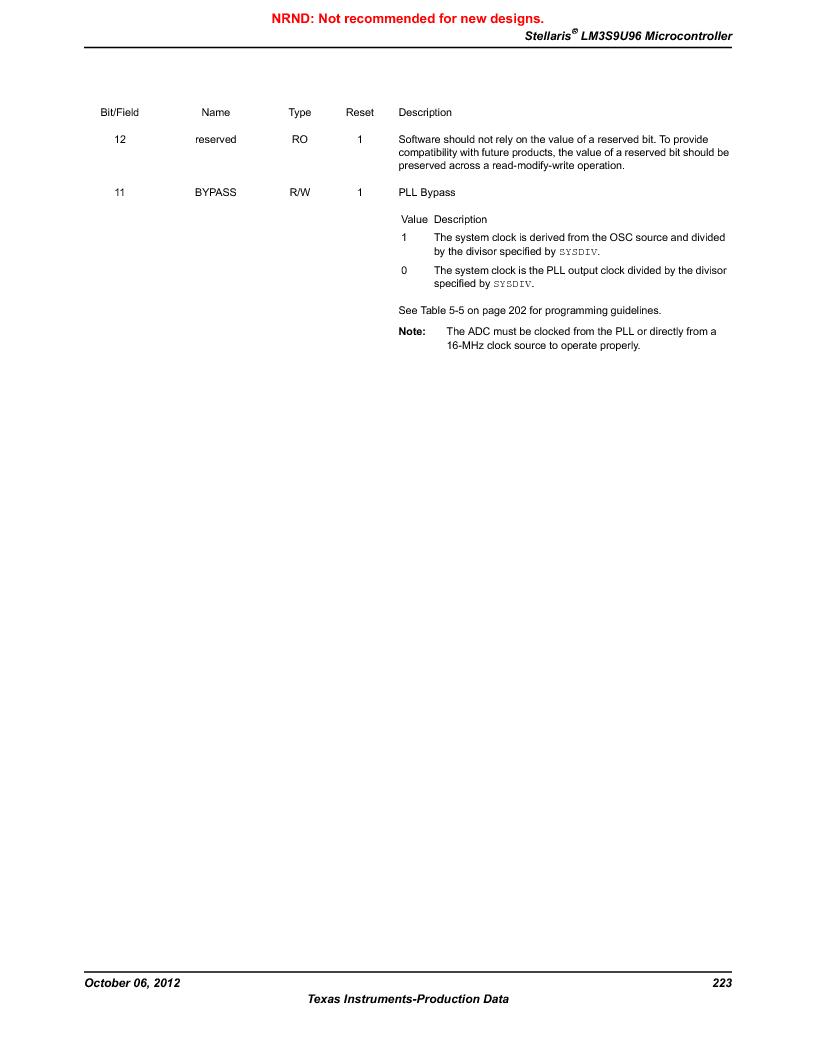 LM3S9U96-IBZ80-A1T ,Texas Instruments厂商,IC ARM CORTEX MCU 384KB 108NFBGA, LM3S9U96-IBZ80-A1T datasheet预览  第223页