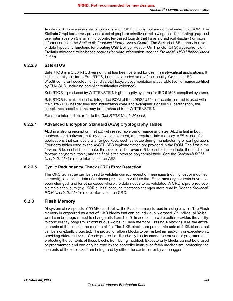 LM3S9U96-IBZ80-A1T ,Texas Instruments厂商,IC ARM CORTEX MCU 384KB 108NFBGA, LM3S9U96-IBZ80-A1T datasheet预览  第303页