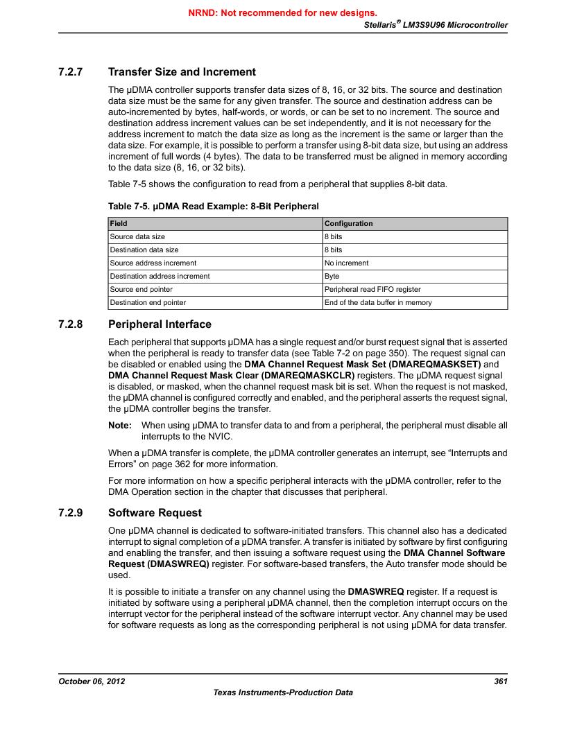 LM3S9U96-IBZ80-A1T ,Texas Instruments厂商,IC ARM CORTEX MCU 384KB 108NFBGA, LM3S9U96-IBZ80-A1T datasheet预览  第361页