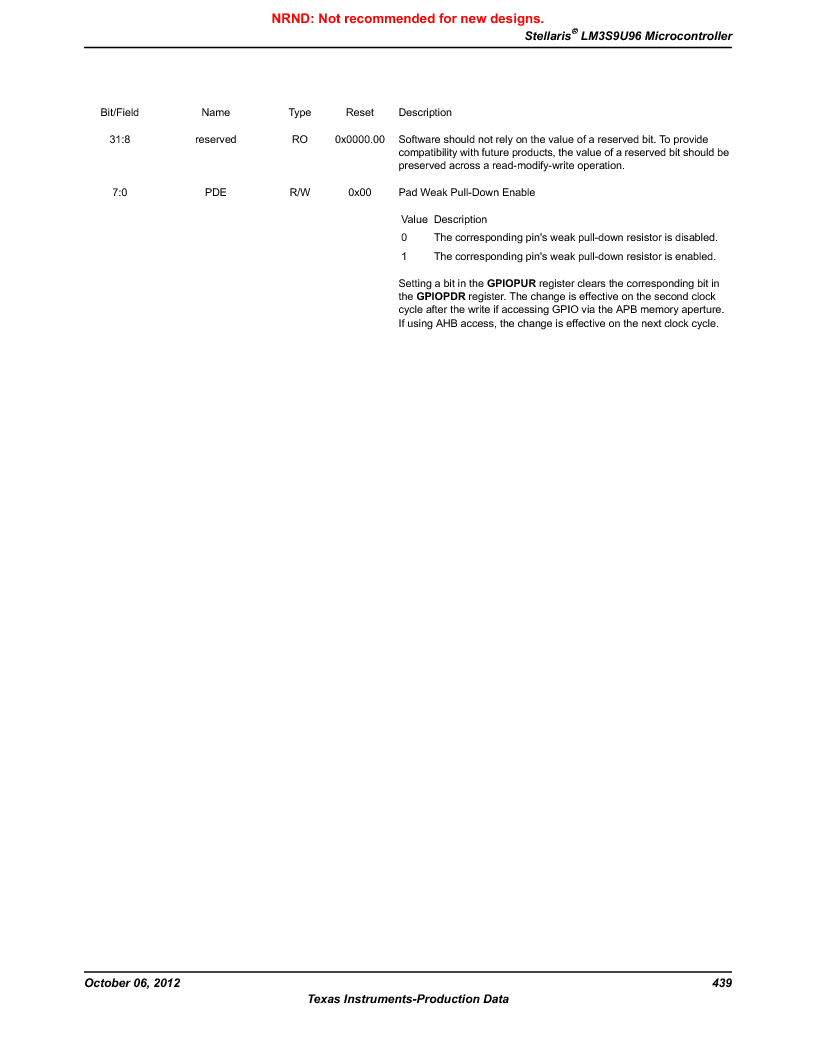 LM3S9U96-IBZ80-A1T ,Texas Instruments厂商,IC ARM CORTEX MCU 384KB 108NFBGA, LM3S9U96-IBZ80-A1T datasheet预览  第439页