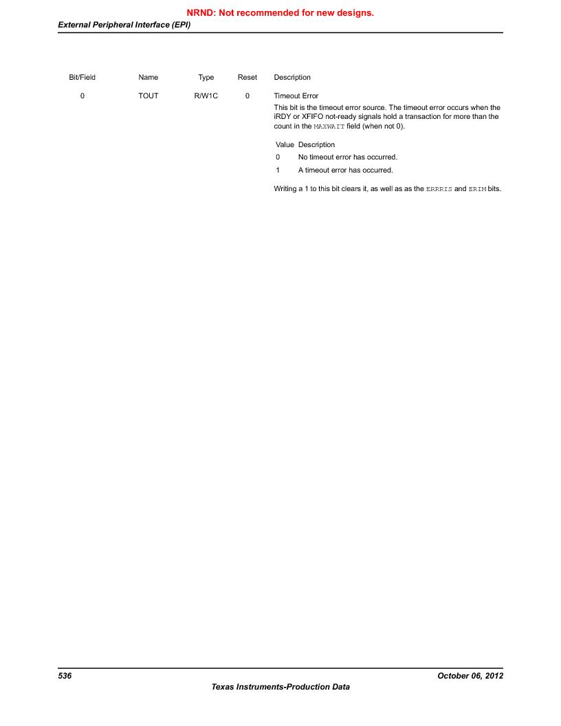 LM3S9U96-IBZ80-A1T ,Texas Instruments厂商,IC ARM CORTEX MCU 384KB 108NFBGA, LM3S9U96-IBZ80-A1T datasheet预览  第536页
