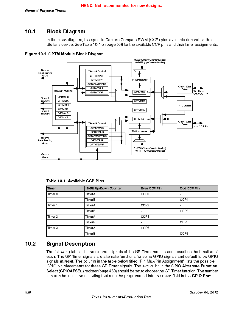 LM3S9U96-IBZ80-A1T ,Texas Instruments厂商,IC ARM CORTEX MCU 384KB 108NFBGA, LM3S9U96-IBZ80-A1T datasheet预览  第538页