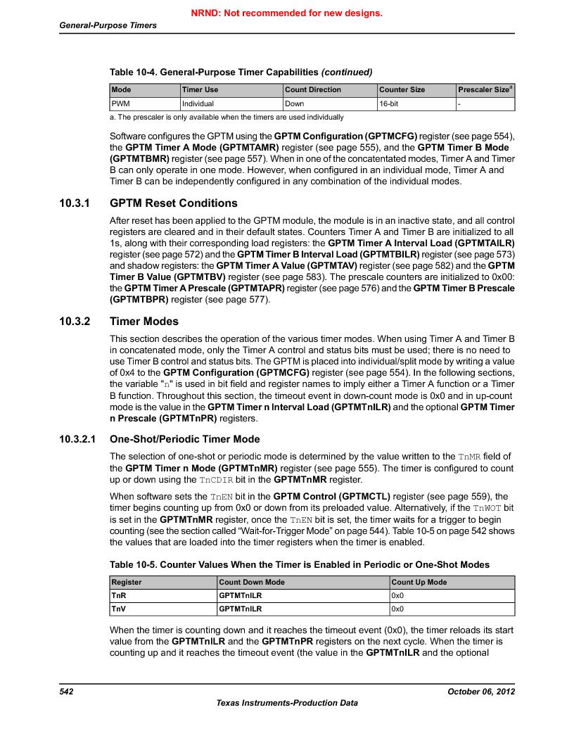 LM3S9U96-IBZ80-A1T ,Texas Instruments厂商,IC ARM CORTEX MCU 384KB 108NFBGA, LM3S9U96-IBZ80-A1T datasheet预览  第542页