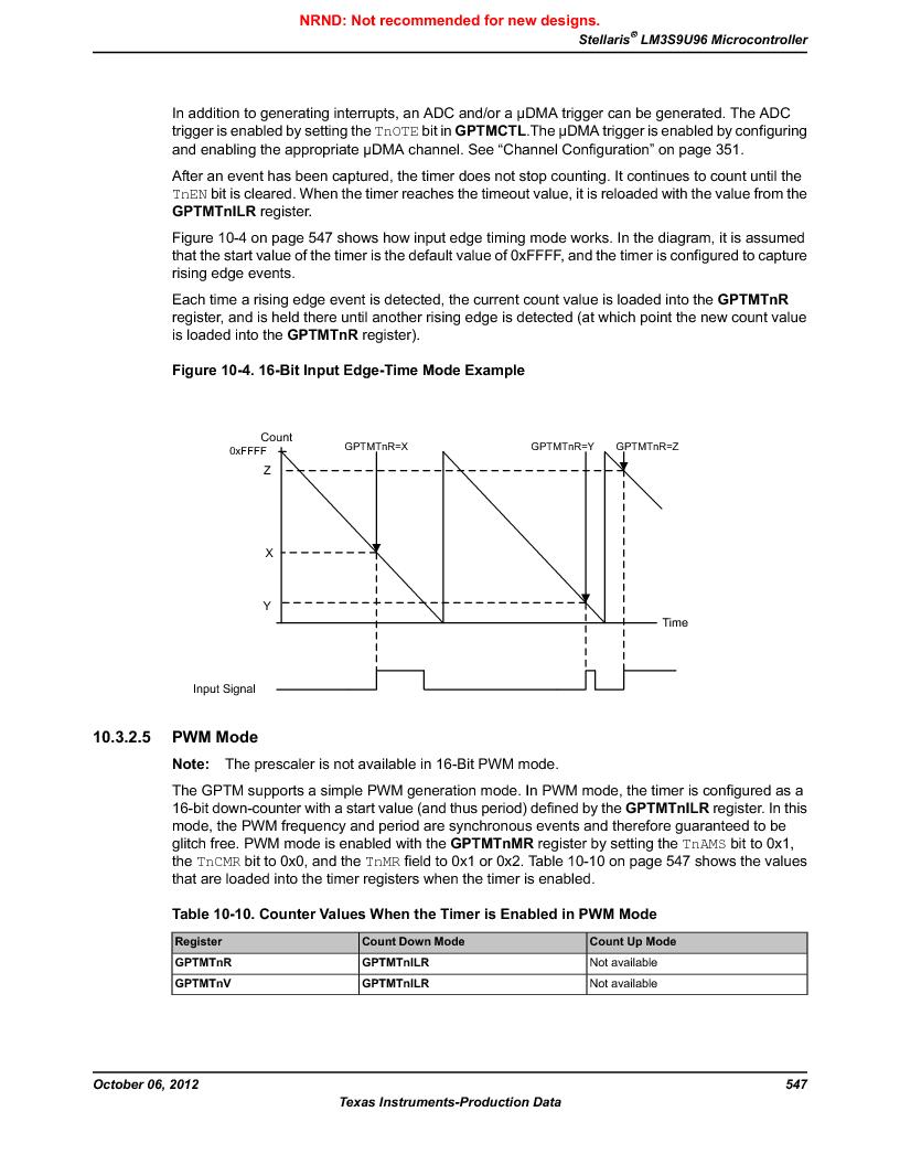LM3S9U96-IBZ80-A1T ,Texas Instruments厂商,IC ARM CORTEX MCU 384KB 108NFBGA, LM3S9U96-IBZ80-A1T datasheet预览  第547页