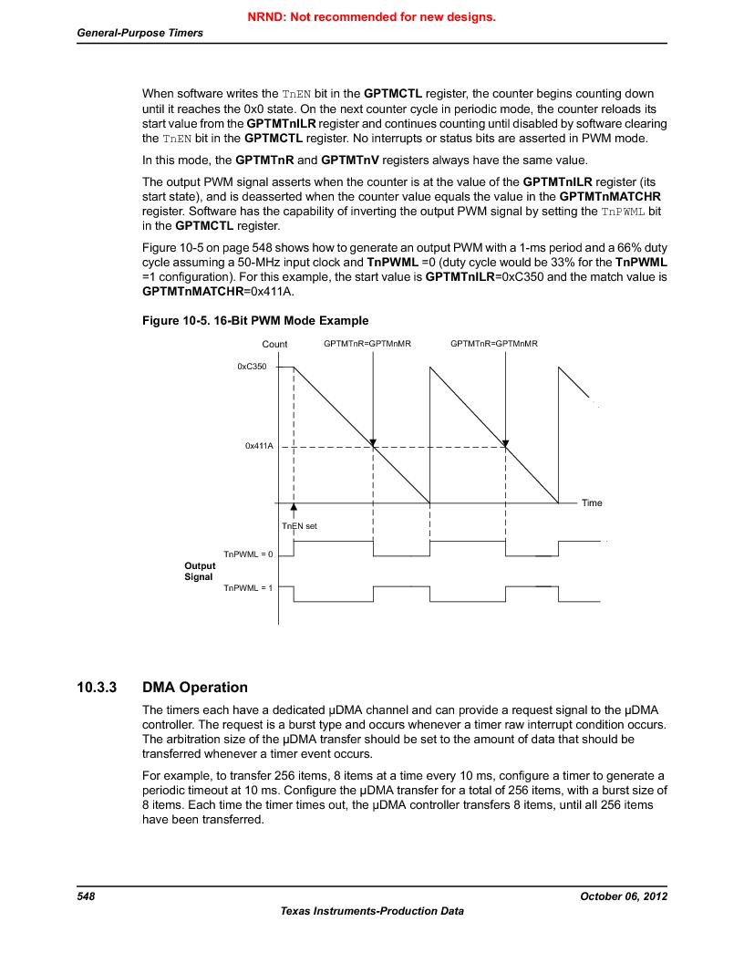 LM3S9U96-IBZ80-A1T ,Texas Instruments厂商,IC ARM CORTEX MCU 384KB 108NFBGA, LM3S9U96-IBZ80-A1T datasheet预览  第548页
