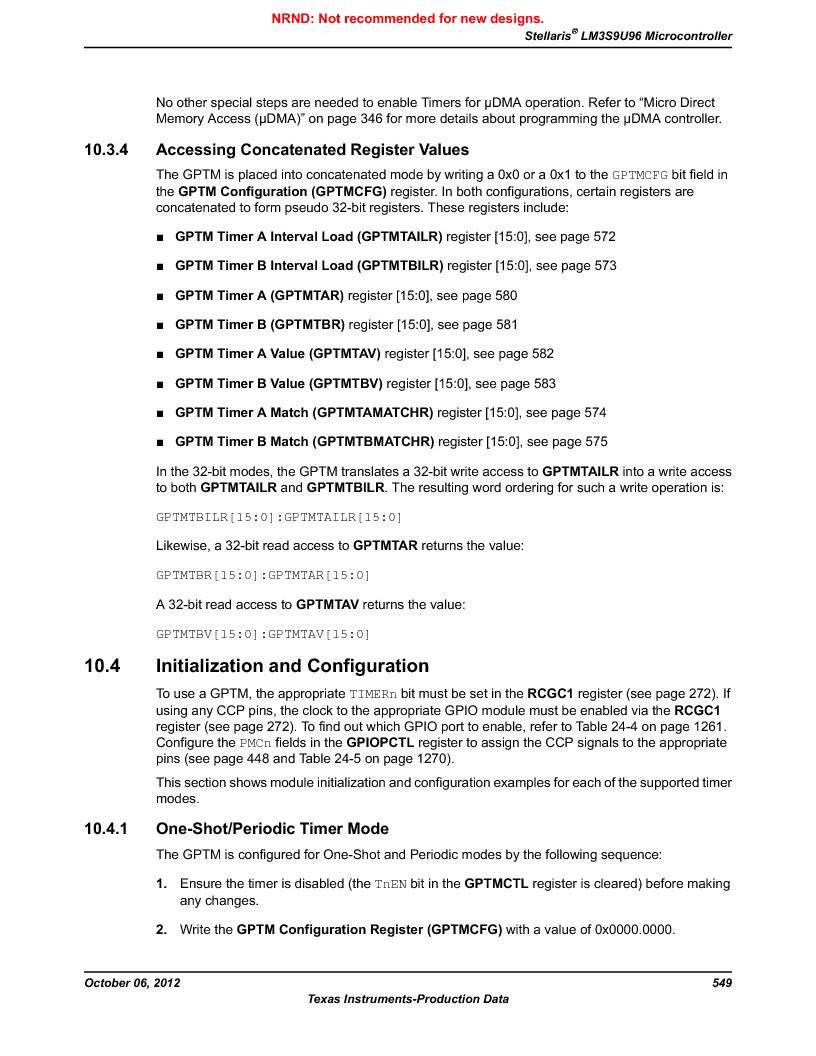 LM3S9U96-IBZ80-A1T ,Texas Instruments厂商,IC ARM CORTEX MCU 384KB 108NFBGA, LM3S9U96-IBZ80-A1T datasheet预览  第549页
