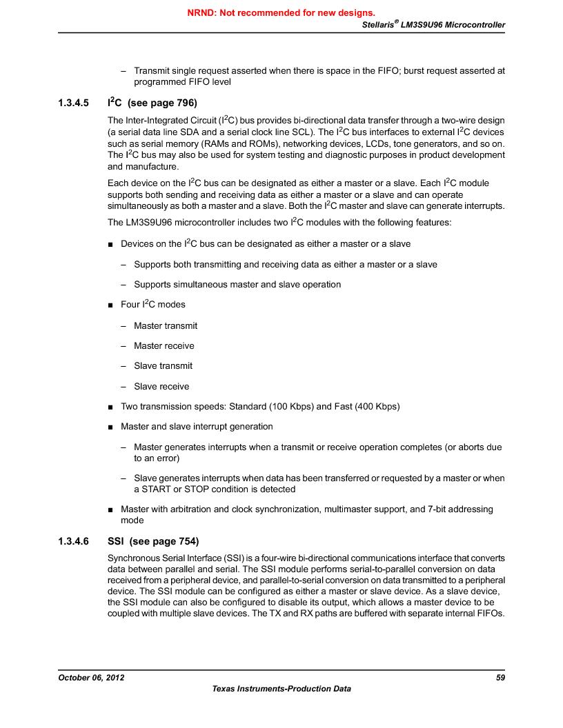 LM3S9U96-IBZ80-A1T ,Texas Instruments厂商,IC ARM CORTEX MCU 384KB 108NFBGA, LM3S9U96-IBZ80-A1T datasheet预览  第59页
