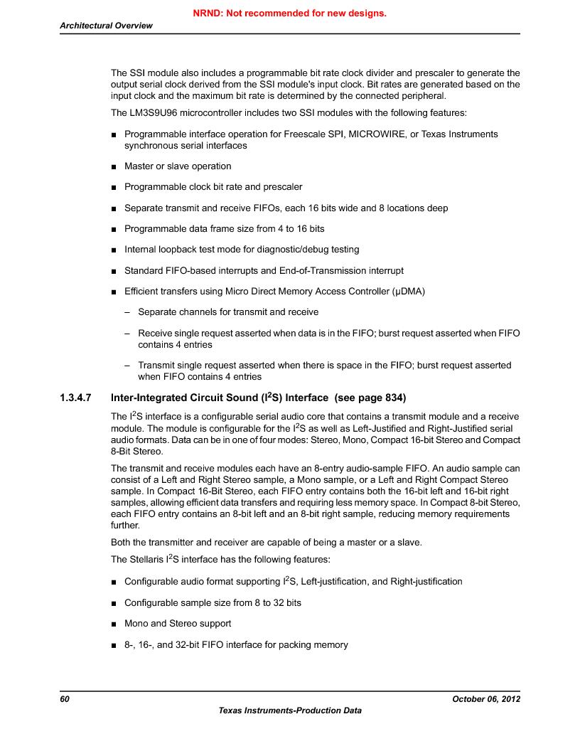 LM3S9U96-IBZ80-A1T ,Texas Instruments厂商,IC ARM CORTEX MCU 384KB 108NFBGA, LM3S9U96-IBZ80-A1T datasheet预览  第60页