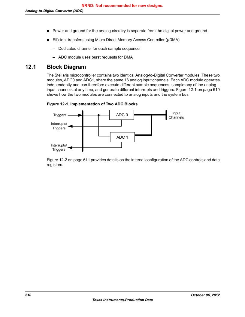 LM3S9U96-IBZ80-A1T ,Texas Instruments厂商,IC ARM CORTEX MCU 384KB 108NFBGA, LM3S9U96-IBZ80-A1T datasheet预览  第610页