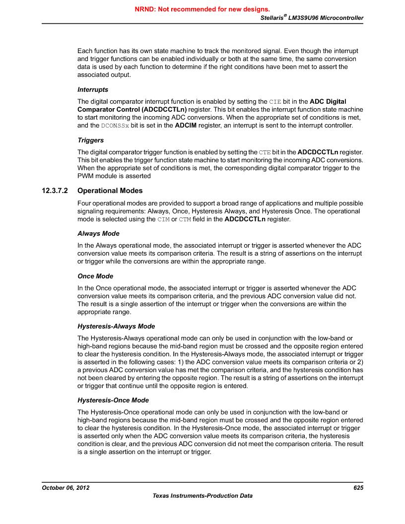 LM3S9U96-IBZ80-A1T ,Texas Instruments厂商,IC ARM CORTEX MCU 384KB 108NFBGA, LM3S9U96-IBZ80-A1T datasheet预览  第625页