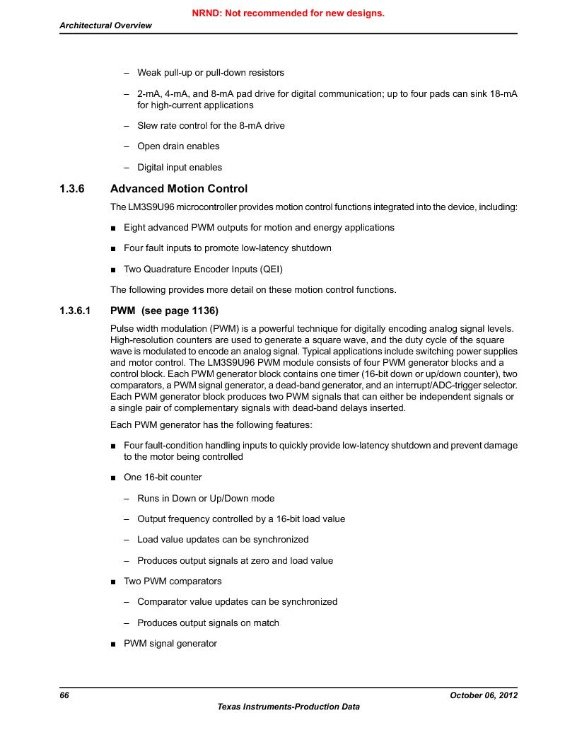 LM3S9U96-IBZ80-A1T ,Texas Instruments厂商,IC ARM CORTEX MCU 384KB 108NFBGA, LM3S9U96-IBZ80-A1T datasheet预览  第66页