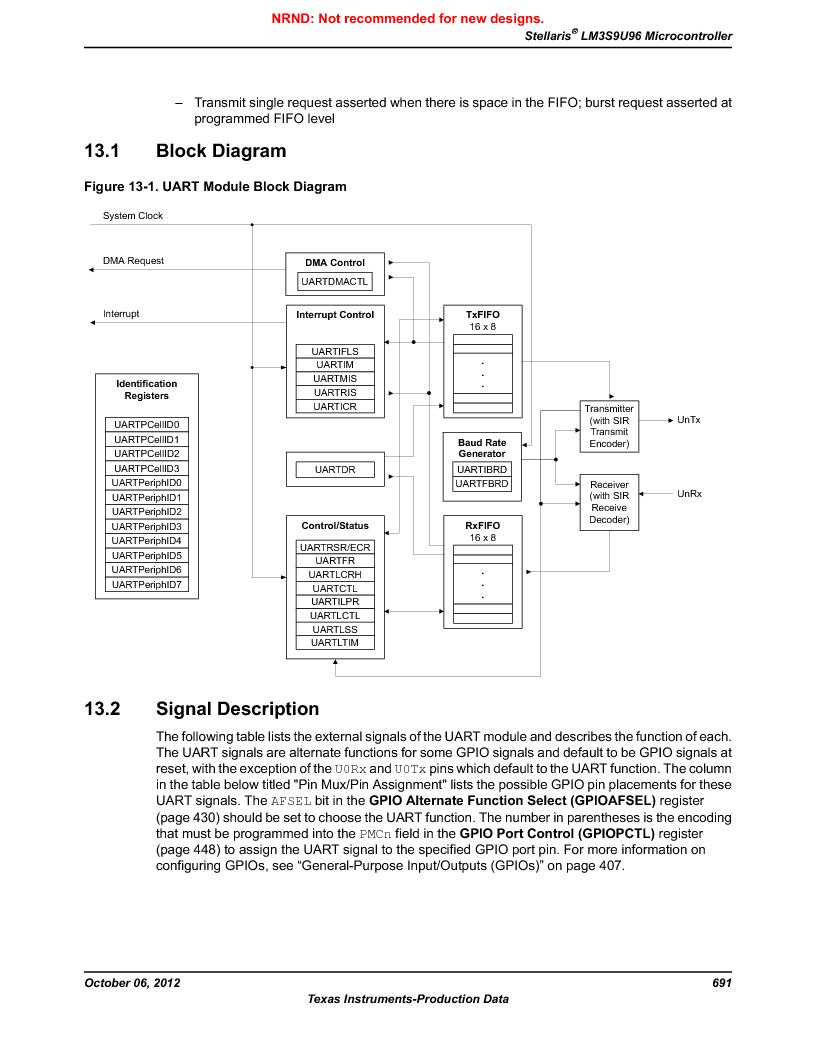 LM3S9U96-IBZ80-A1T ,Texas Instruments厂商,IC ARM CORTEX MCU 384KB 108NFBGA, LM3S9U96-IBZ80-A1T datasheet预览  第691页