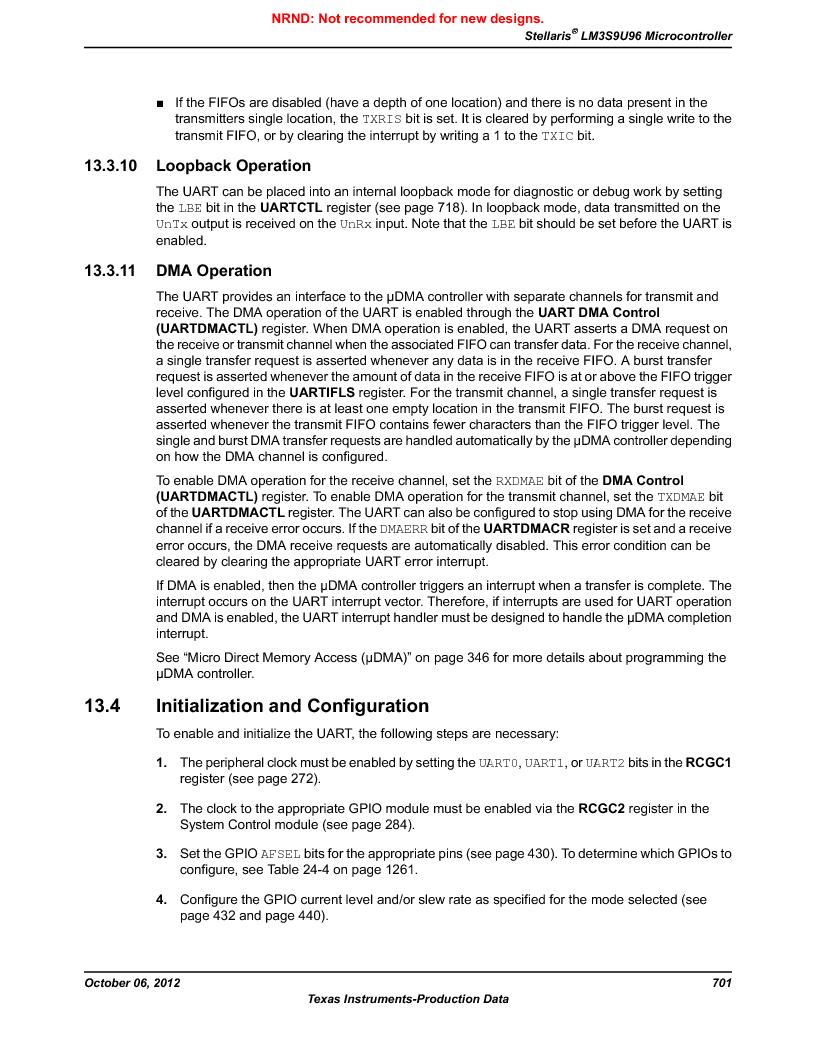 LM3S9U96-IBZ80-A1T ,Texas Instruments厂商,IC ARM CORTEX MCU 384KB 108NFBGA, LM3S9U96-IBZ80-A1T datasheet预览  第701页