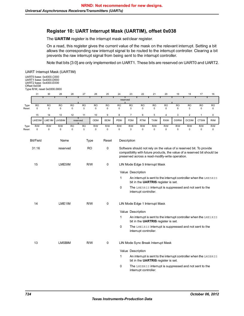 LM3S9U96-IBZ80-A1T ,Texas Instruments厂商,IC ARM CORTEX MCU 384KB 108NFBGA, LM3S9U96-IBZ80-A1T datasheet预览  第724页