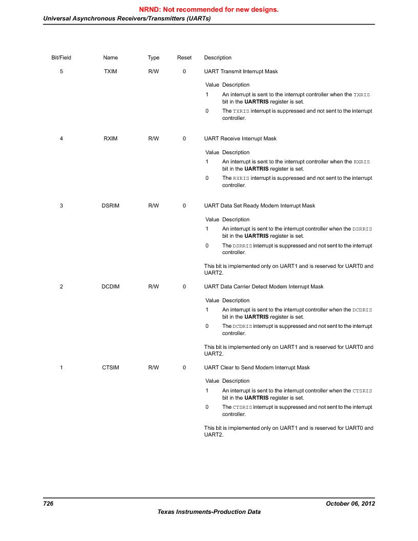 LM3S9U96-IBZ80-A1T ,Texas Instruments厂商,IC ARM CORTEX MCU 384KB 108NFBGA, LM3S9U96-IBZ80-A1T datasheet预览  第726页