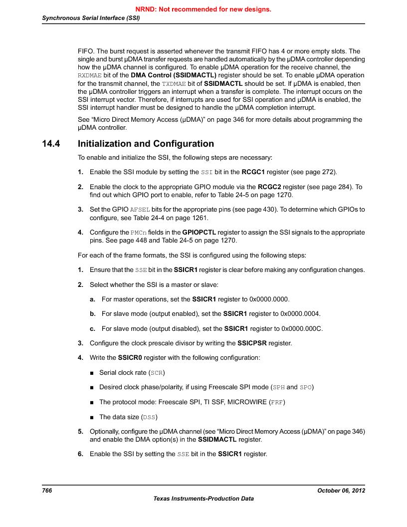 LM3S9U96-IBZ80-A1T ,Texas Instruments厂商,IC ARM CORTEX MCU 384KB 108NFBGA, LM3S9U96-IBZ80-A1T datasheet预览  第766页