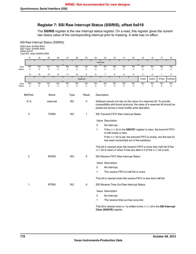 LM3S9U96-IBZ80-A1T ,Texas Instruments厂商,IC ARM CORTEX MCU 384KB 108NFBGA, LM3S9U96-IBZ80-A1T datasheet预览  第778页