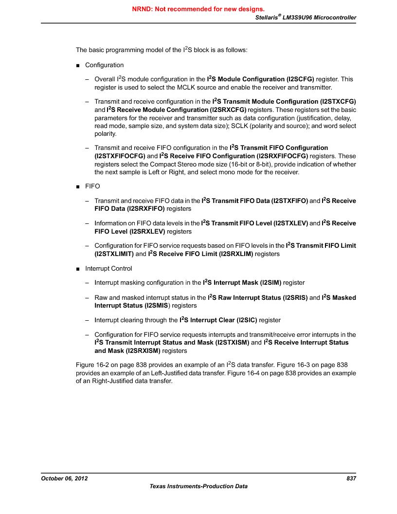 LM3S9U96-IBZ80-A1T ,Texas Instruments厂商,IC ARM CORTEX MCU 384KB 108NFBGA, LM3S9U96-IBZ80-A1T datasheet预览  第837页