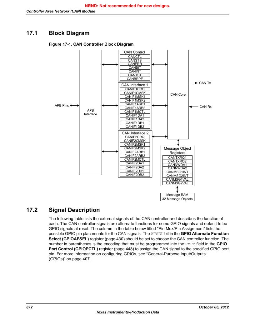 LM3S9U96-IBZ80-A1T ,Texas Instruments厂商,IC ARM CORTEX MCU 384KB 108NFBGA, LM3S9U96-IBZ80-A1T datasheet预览  第872页