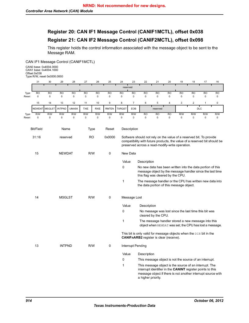 LM3S9U96-IBZ80-A1T ,Texas Instruments厂商,IC ARM CORTEX MCU 384KB 108NFBGA, LM3S9U96-IBZ80-A1T datasheet预览  第914页