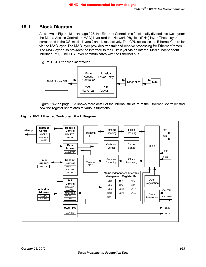 LM3S9U96-IBZ80-A1T ,Texas Instruments厂商,IC ARM CORTEX MCU 384KB 108NFBGA, LM3S9U96-IBZ80-A1T datasheet预览  第923页