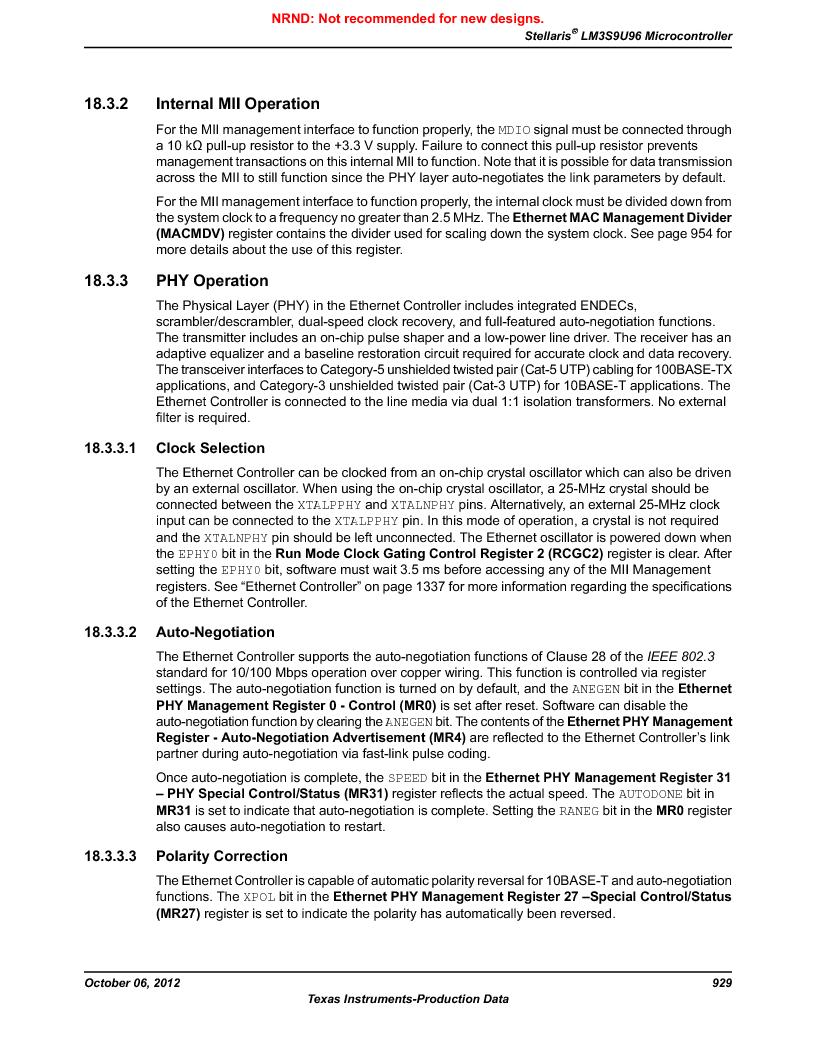 LM3S9U96-IBZ80-A1T ,Texas Instruments厂商,IC ARM CORTEX MCU 384KB 108NFBGA, LM3S9U96-IBZ80-A1T datasheet预览  第929页