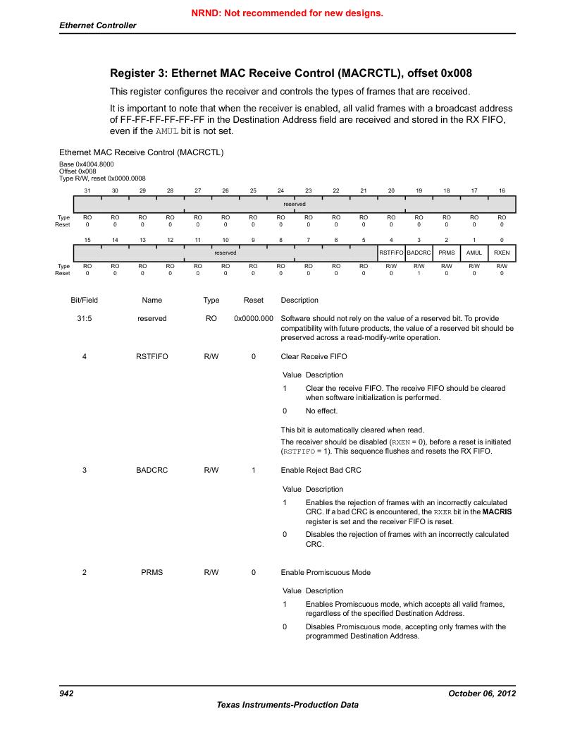 LM3S9U96-IBZ80-A1T ,Texas Instruments厂商,IC ARM CORTEX MCU 384KB 108NFBGA, LM3S9U96-IBZ80-A1T datasheet预览  第942页