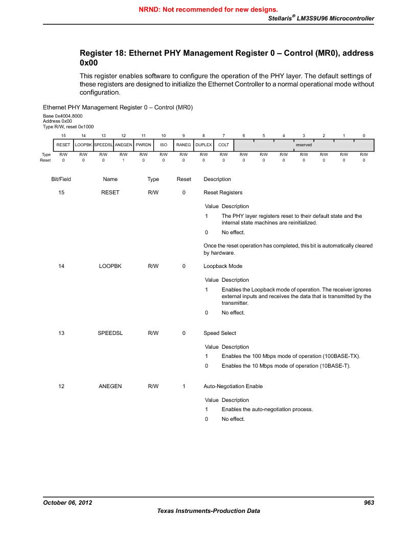 LM3S9U96-IBZ80-A1T ,Texas Instruments厂商,IC ARM CORTEX MCU 384KB 108NFBGA, LM3S9U96-IBZ80-A1T datasheet预览  第963页