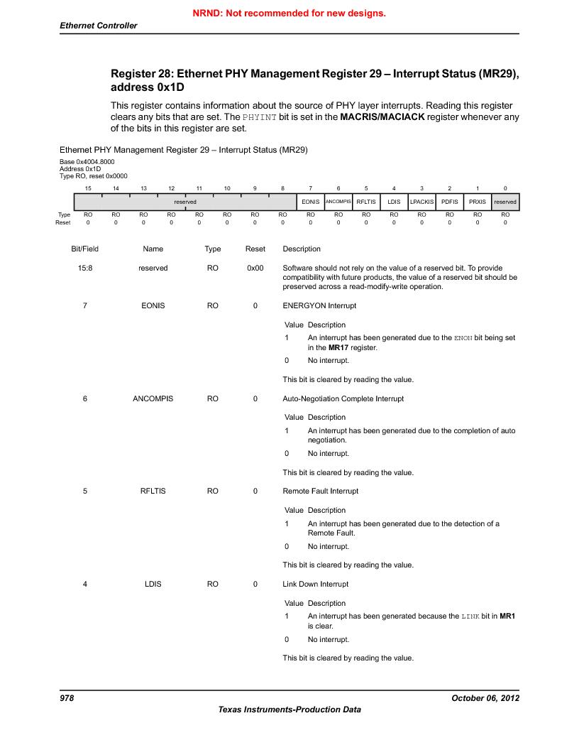 LM3S9U96-IBZ80-A1T ,Texas Instruments厂商,IC ARM CORTEX MCU 384KB 108NFBGA, LM3S9U96-IBZ80-A1T datasheet预览  第978页