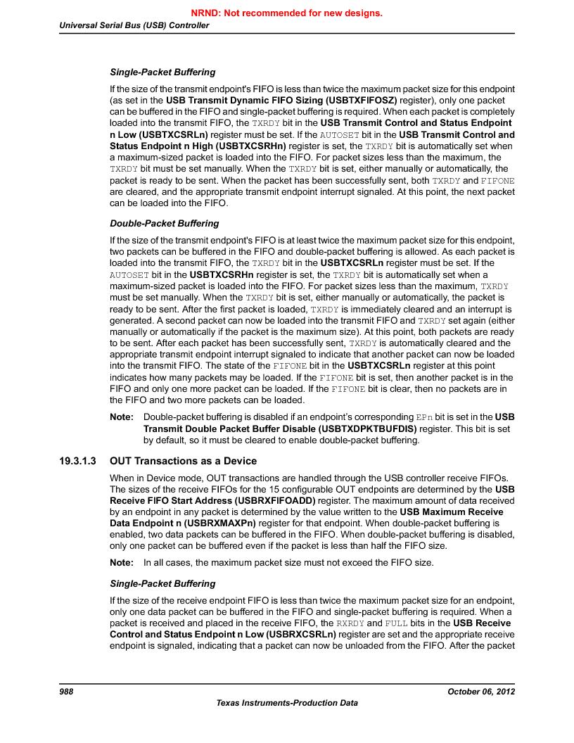 LM3S9U96-IBZ80-A1T ,Texas Instruments厂商,IC ARM CORTEX MCU 384KB 108NFBGA, LM3S9U96-IBZ80-A1T datasheet预览  第988页
