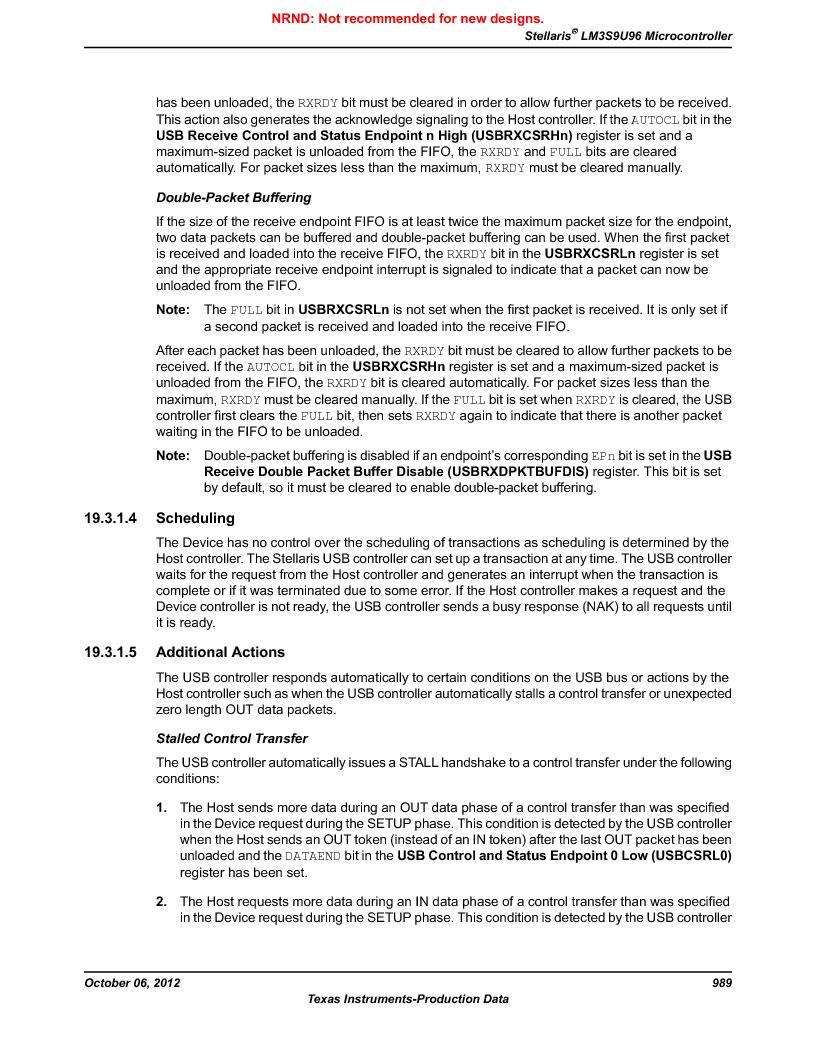 LM3S9U96-IBZ80-A1T ,Texas Instruments厂商,IC ARM CORTEX MCU 384KB 108NFBGA, LM3S9U96-IBZ80-A1T datasheet预览  第989页