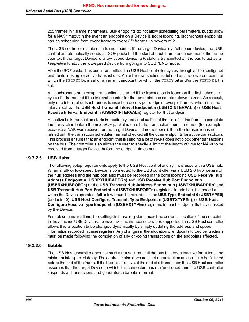 LM3S9U96-IBZ80-A1T ,Texas Instruments厂商,IC ARM CORTEX MCU 384KB 108NFBGA, LM3S9U96-IBZ80-A1T datasheet预览  第994页