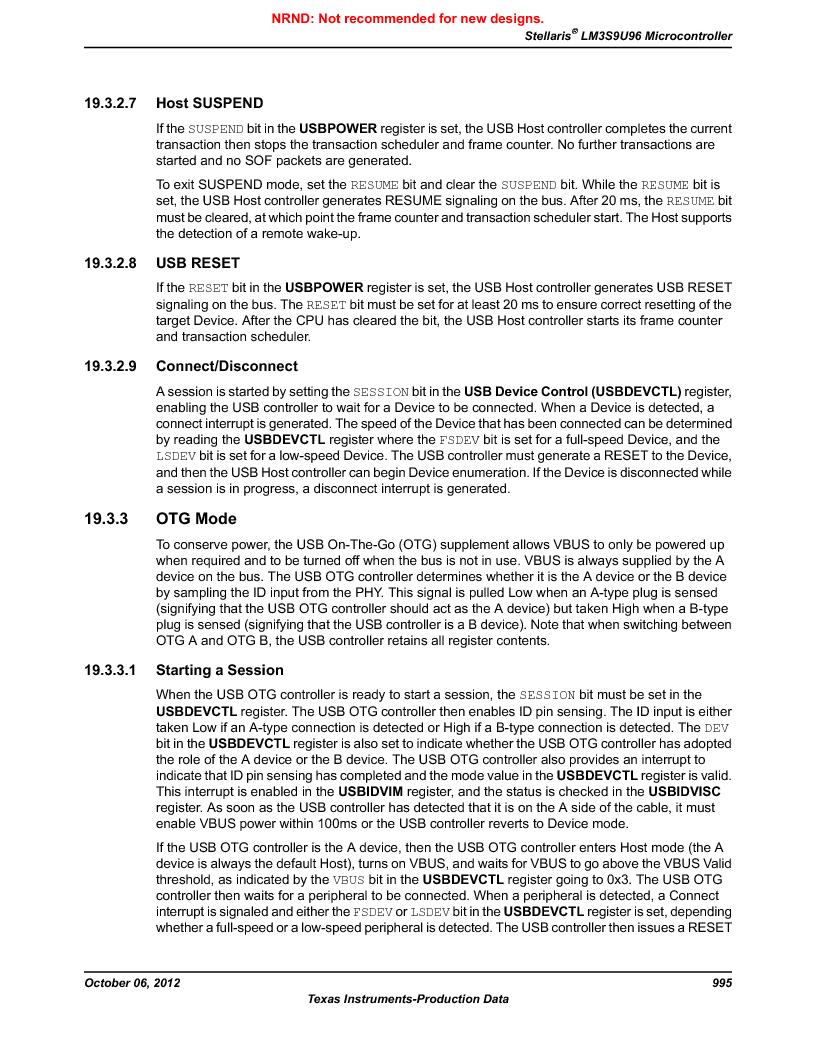 LM3S9U96-IBZ80-A1T ,Texas Instruments厂商,IC ARM CORTEX MCU 384KB 108NFBGA, LM3S9U96-IBZ80-A1T datasheet预览  第995页