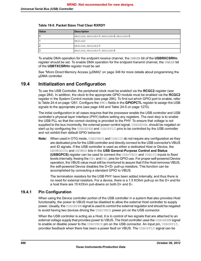 LM3S9U96-IBZ80-A1T ,Texas Instruments厂商,IC ARM CORTEX MCU 384KB 108NFBGA, LM3S9U96-IBZ80-A1T datasheet预览  第998页
