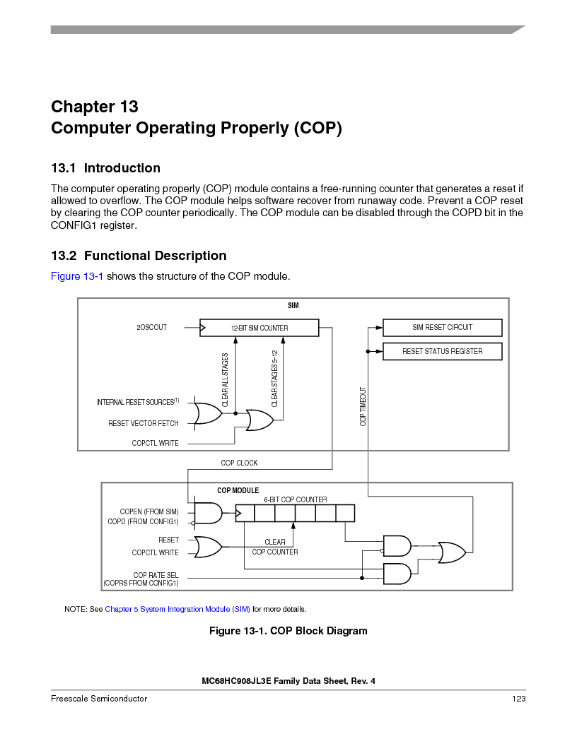 MC908JL3ECPE ,Freescale Semiconductor厂商,IC MCU 4K FLASH 8MHZ 28-DIP, MC908JL3ECPE datasheet预览  第123页
