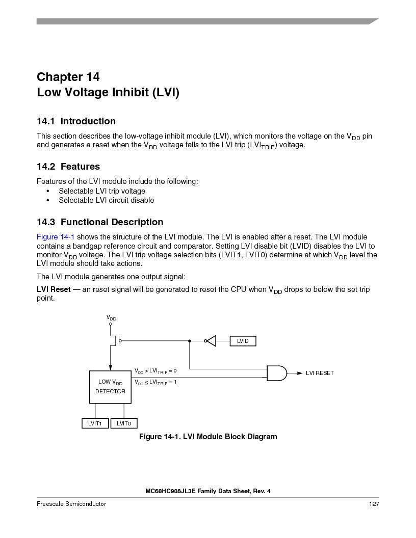 MC908JL3ECPE ,Freescale Semiconductor厂商,IC MCU 4K FLASH 8MHZ 28-DIP, MC908JL3ECPE datasheet预览  第127页