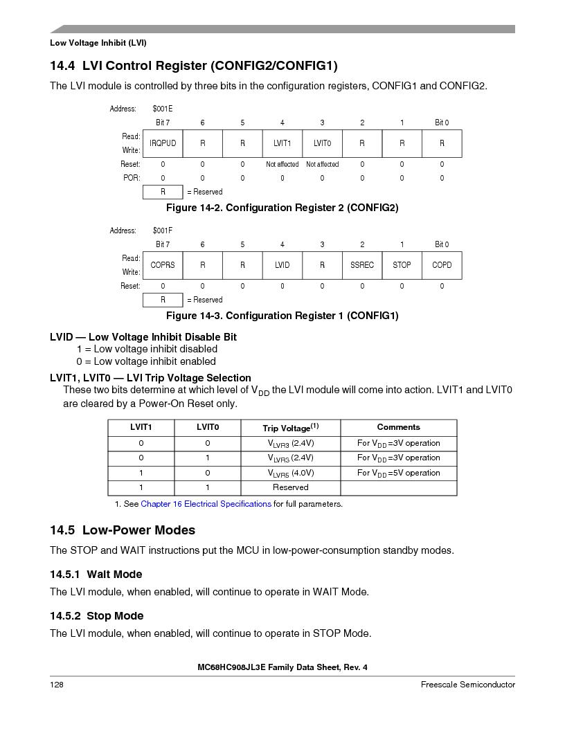 MC908JL3ECPE ,Freescale Semiconductor厂商,IC MCU 4K FLASH 8MHZ 28-DIP, MC908JL3ECPE datasheet预览  第128页
