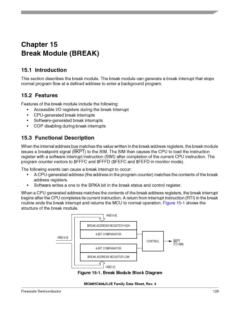 MC908JL3ECPE ,Freescale Semiconductor厂商,IC MCU 4K FLASH 8MHZ 28-DIP, MC908JL3ECPE datasheet预览  第129页
