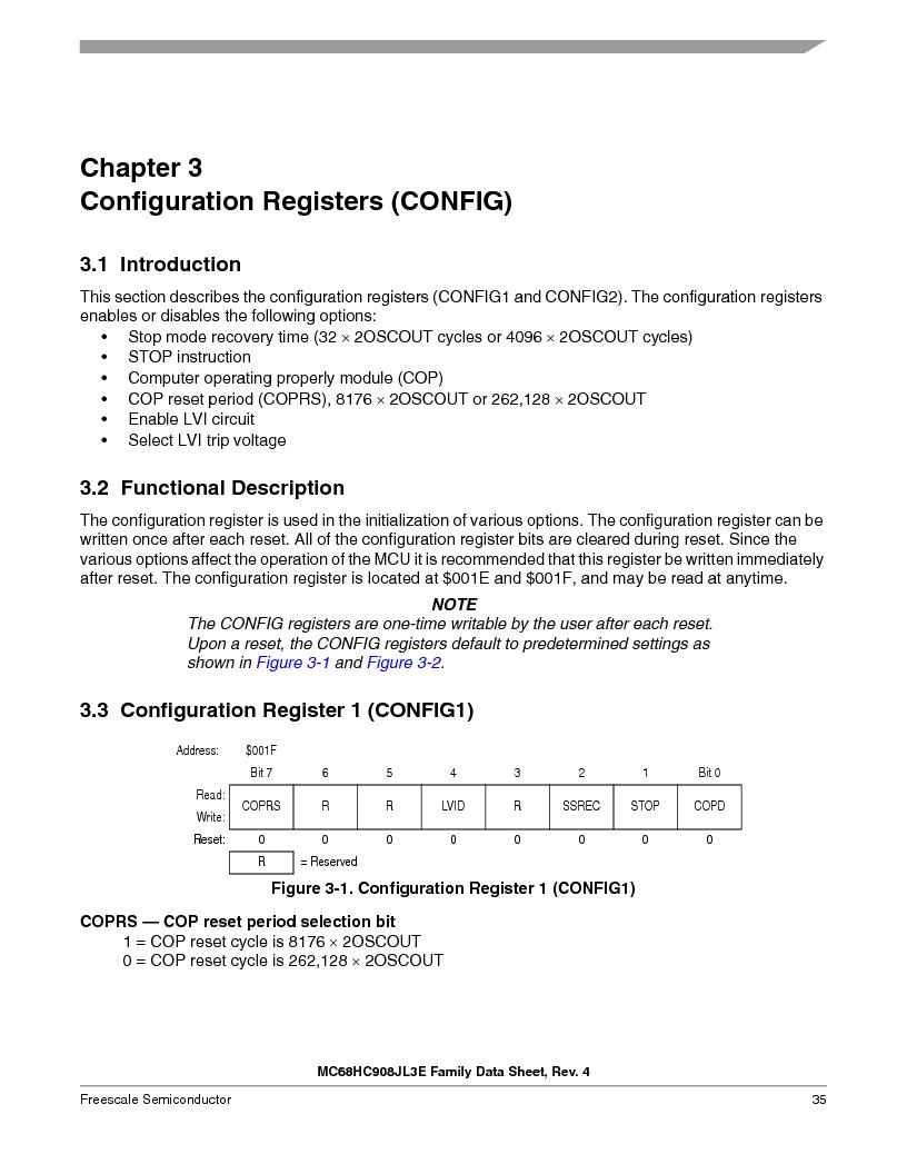MC908JL3ECPE ,Freescale Semiconductor厂商,IC MCU 4K FLASH 8MHZ 28-DIP, MC908JL3ECPE datasheet预览  第35页