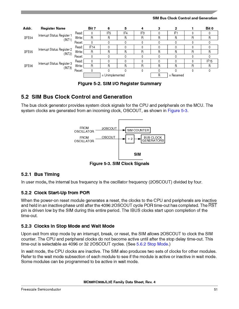 MC908JL3ECPE ,Freescale Semiconductor厂商,IC MCU 4K FLASH 8MHZ 28-DIP, MC908JL3ECPE datasheet预览  第51页
