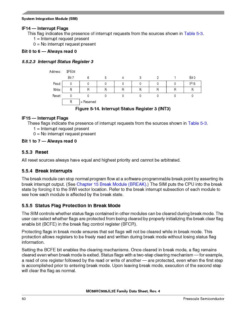 MC908JL3ECPE ,Freescale Semiconductor厂商,IC MCU 4K FLASH 8MHZ 28-DIP, MC908JL3ECPE datasheet预览  第60页