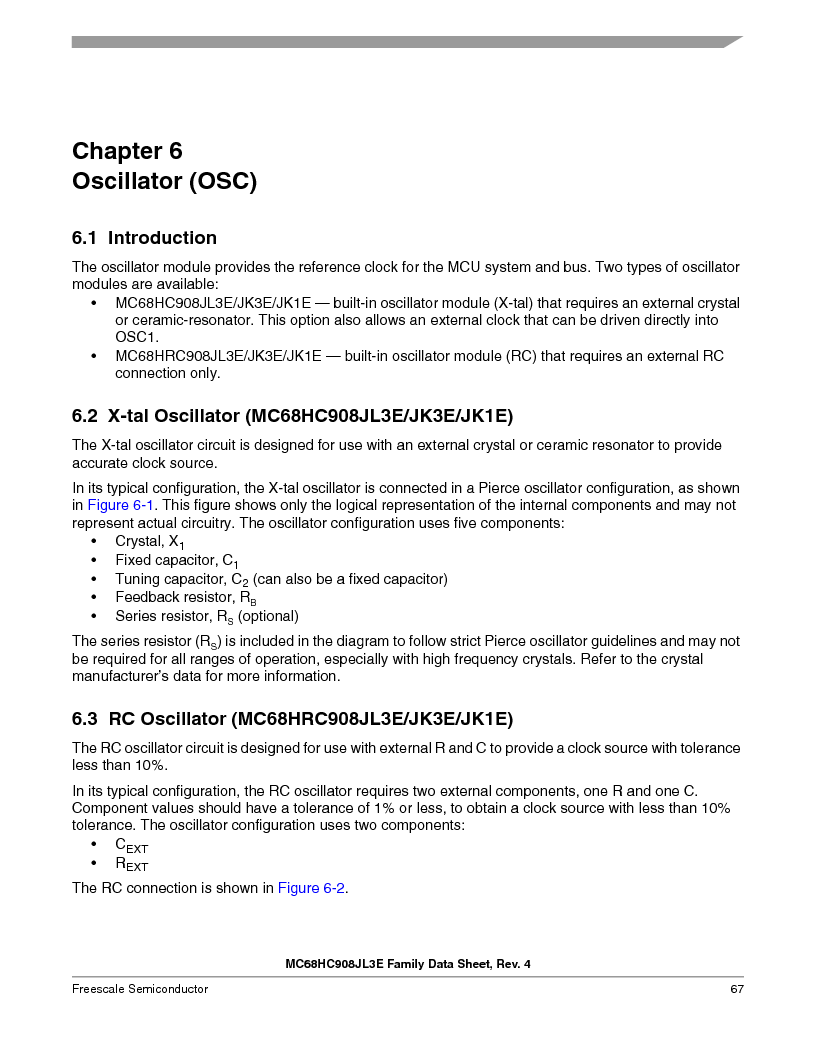 MC908JL3ECPE ,Freescale Semiconductor厂商,IC MCU 4K FLASH 8MHZ 28-DIP, MC908JL3ECPE datasheet预览  第67页