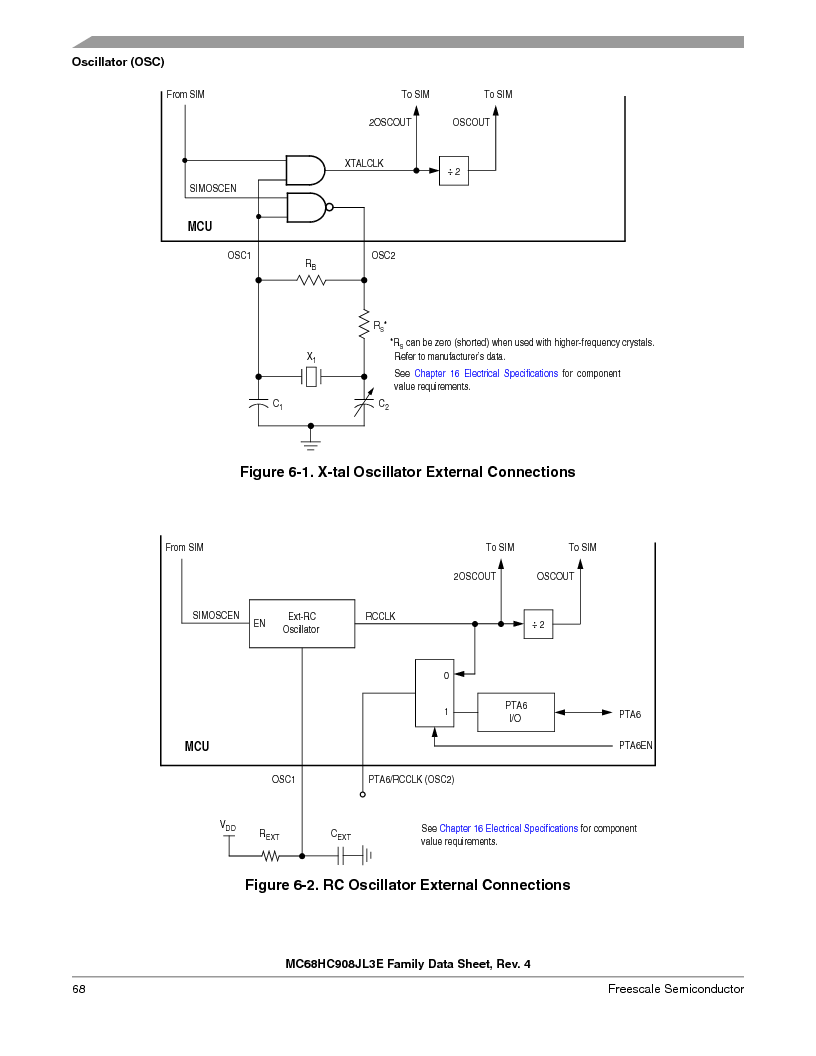 MC908JL3ECPE ,Freescale Semiconductor厂商,IC MCU 4K FLASH 8MHZ 28-DIP, MC908JL3ECPE datasheet预览  第68页