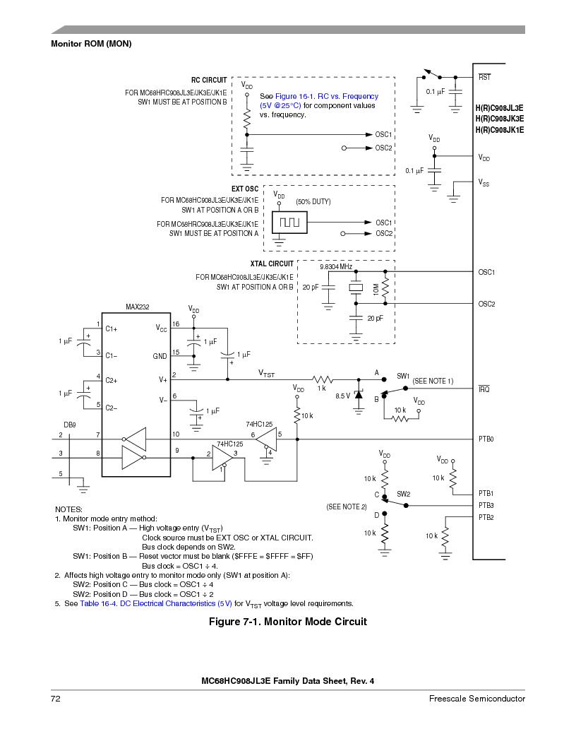 MC908JL3ECPE ,Freescale Semiconductor厂商,IC MCU 4K FLASH 8MHZ 28-DIP, MC908JL3ECPE datasheet预览  第72页
