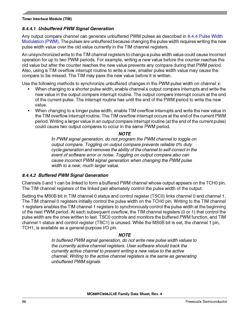 MC908JL3ECPE ,Freescale Semiconductor厂商,IC MCU 4K FLASH 8MHZ 28-DIP, MC908JL3ECPE datasheet预览  第86页