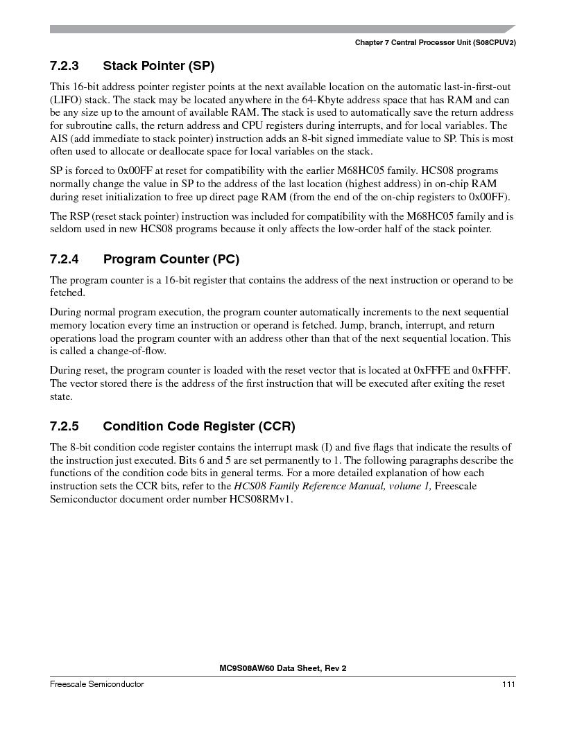 MC9S08AW60CFGER ,Freescale Semiconductor厂商,IC MCU 60K FLASH 4K RAM 44-LQFP, MC9S08AW60CFGER datasheet预览  第111页
